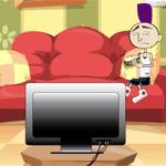Nik watching television