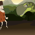 Caveman and Dinosaur